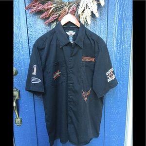 Harley Davidson Men's short sleeve shirt 🖤